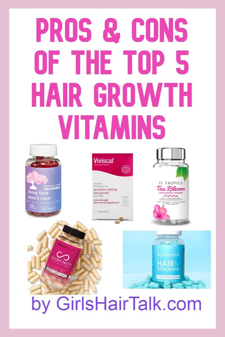 List of hair growth vitamins.