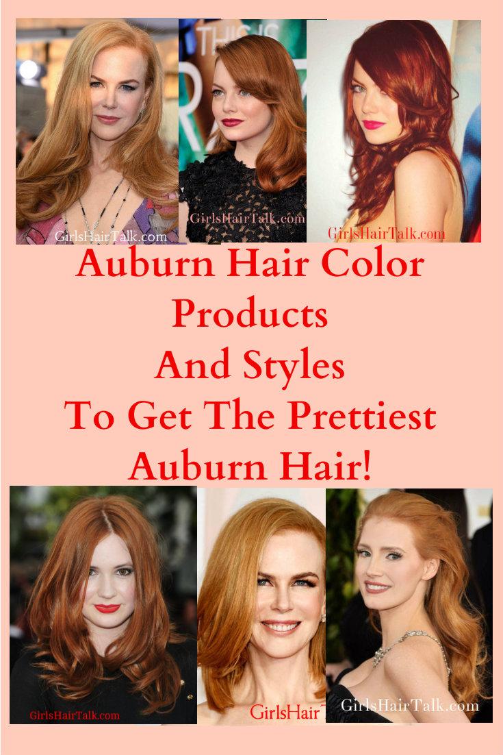 Auburn hair color shades.