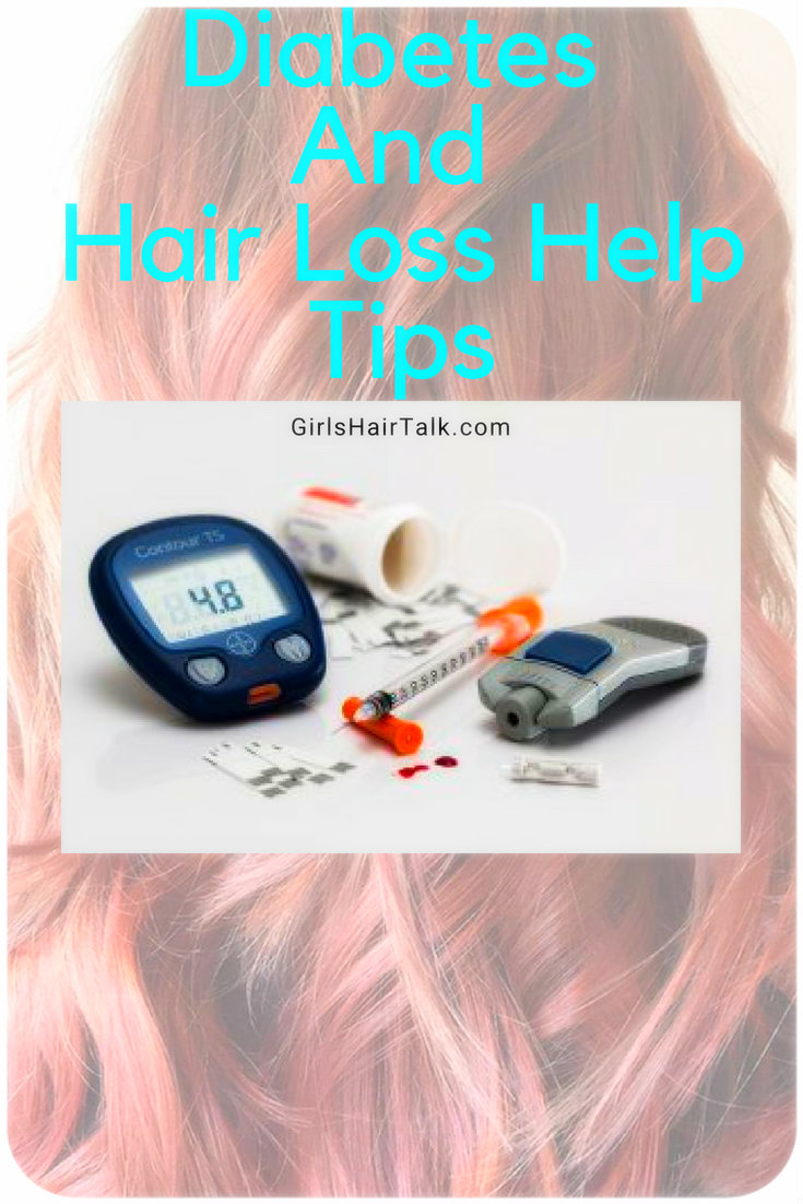 Diabetes tools next to beautiful hair.