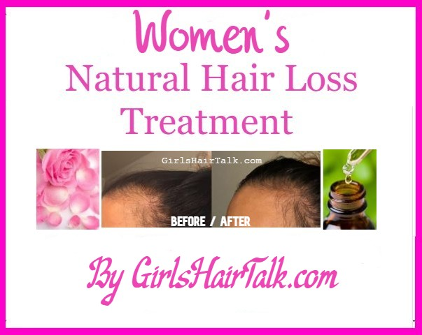 Before & after picture of hair loss vs hair growth after using natural hair loss treatment.