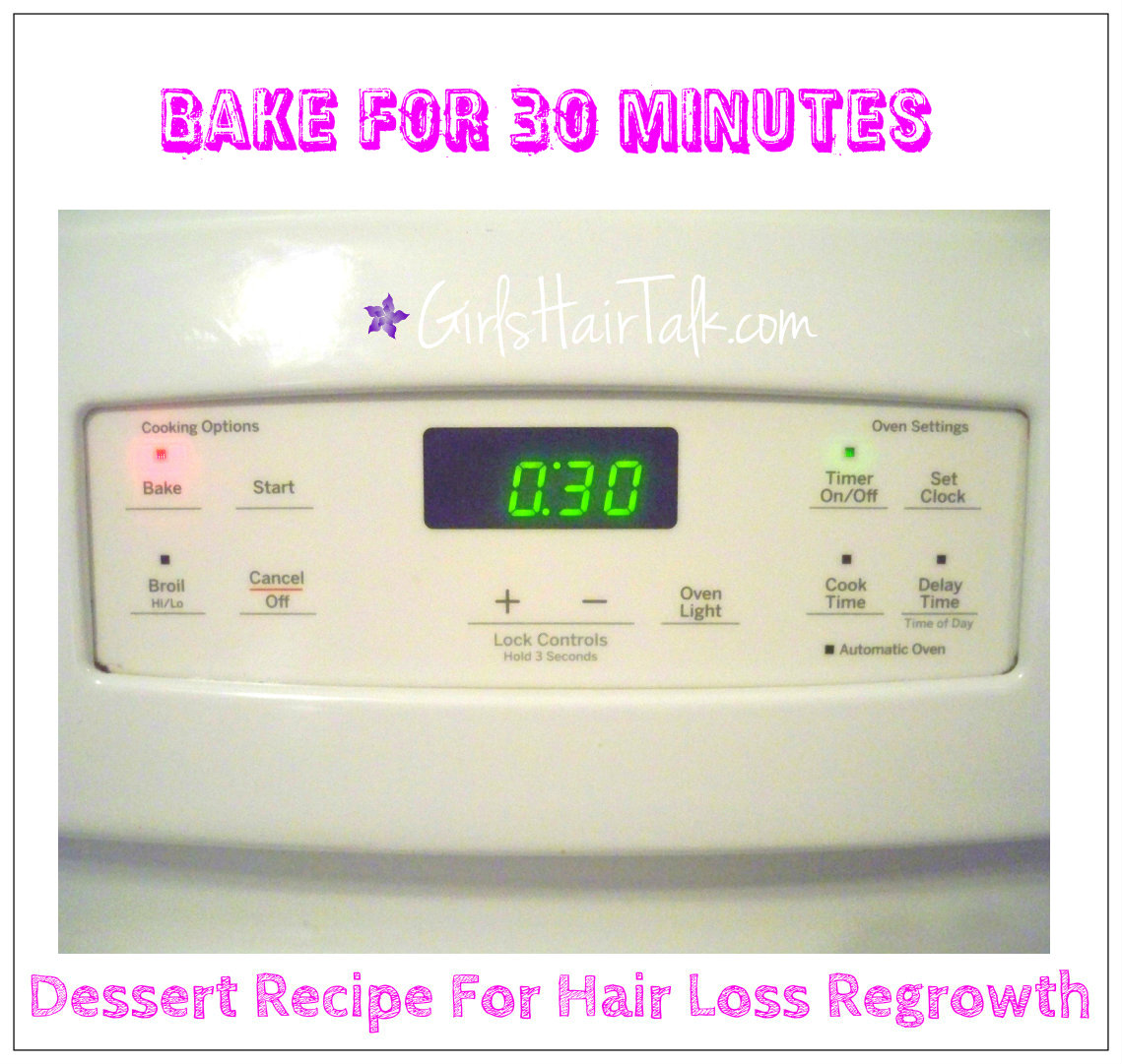 Oven timer says 30 min