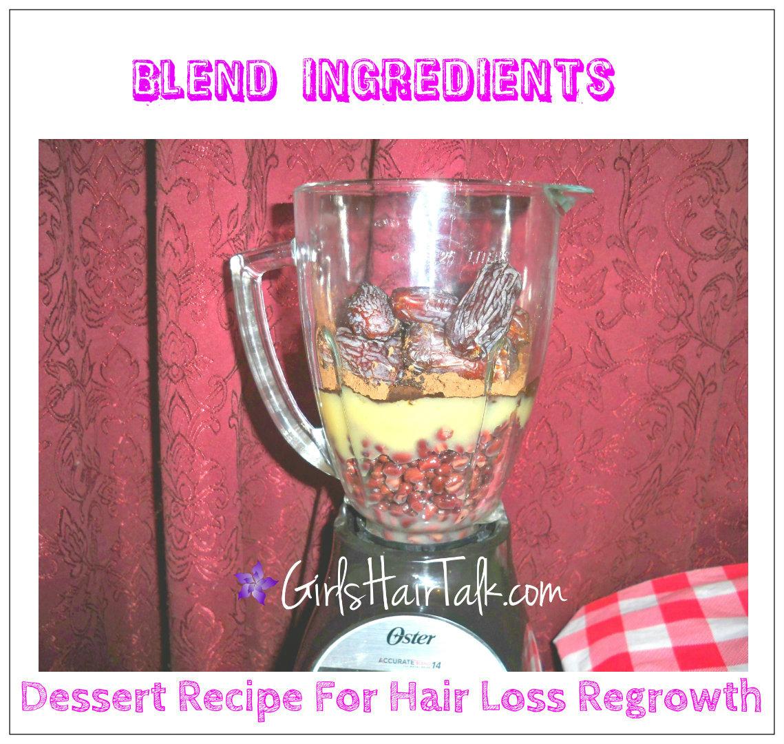 blender with ingredients inside.