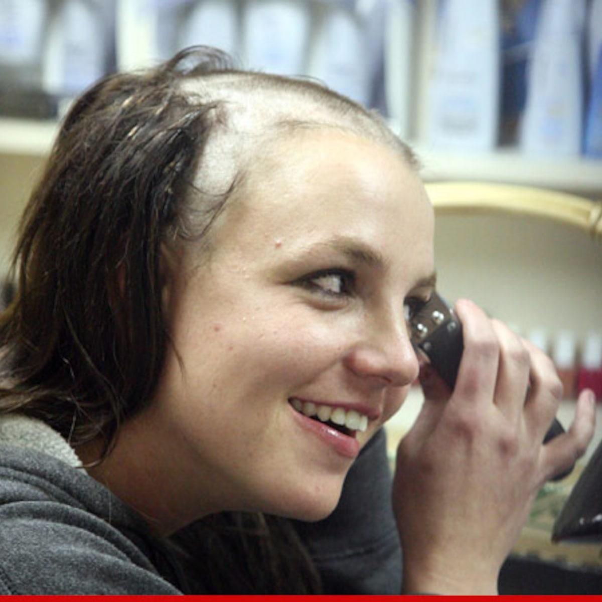 Britney shaving her head.