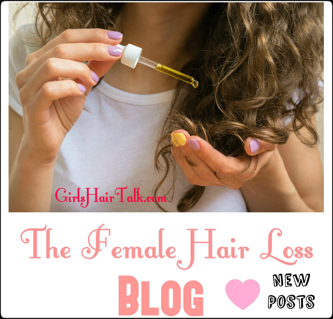 Women putting hair loss treatment on her hair.